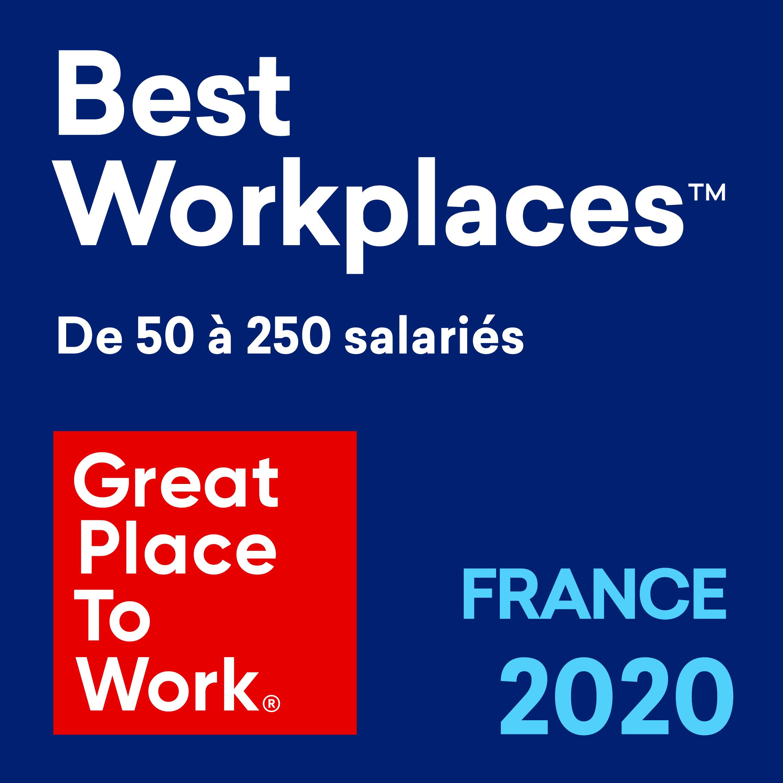 Lauréat dans la catégorie 50 à 250 salariés Great Place to Work